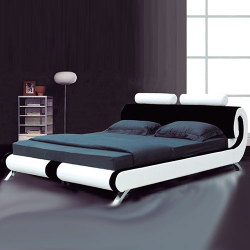 Paris Modern Italian Designer Leather Bed Luxury Leather