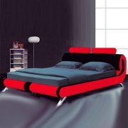 Lyon Modern Leather Bed-262