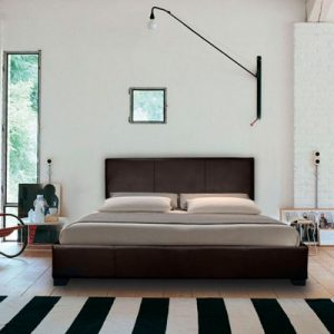 Mona Modern Leather Bed-0