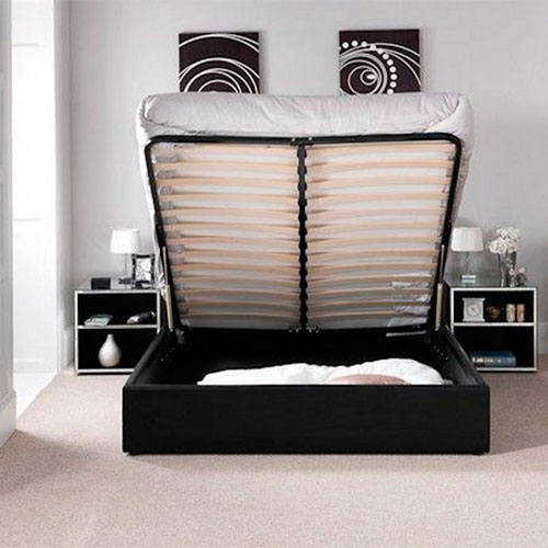 Chanel Ottoman Storage Gas Lift Bed Luxury Leather Beds