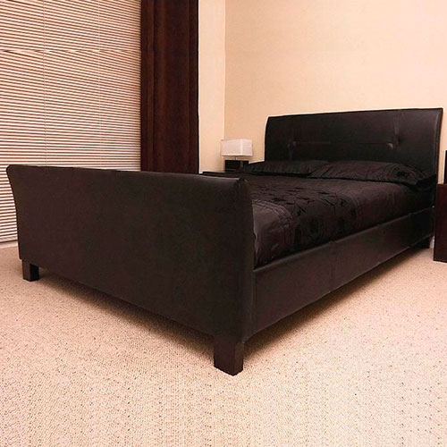 Winchester Faux Leather Sleigh Bed Luxury Leather Beds