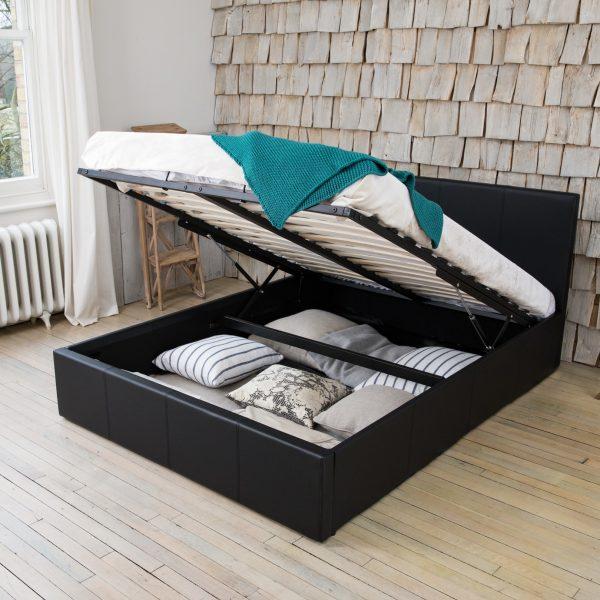 Zena Ottoman Storage Gas Lift Bed