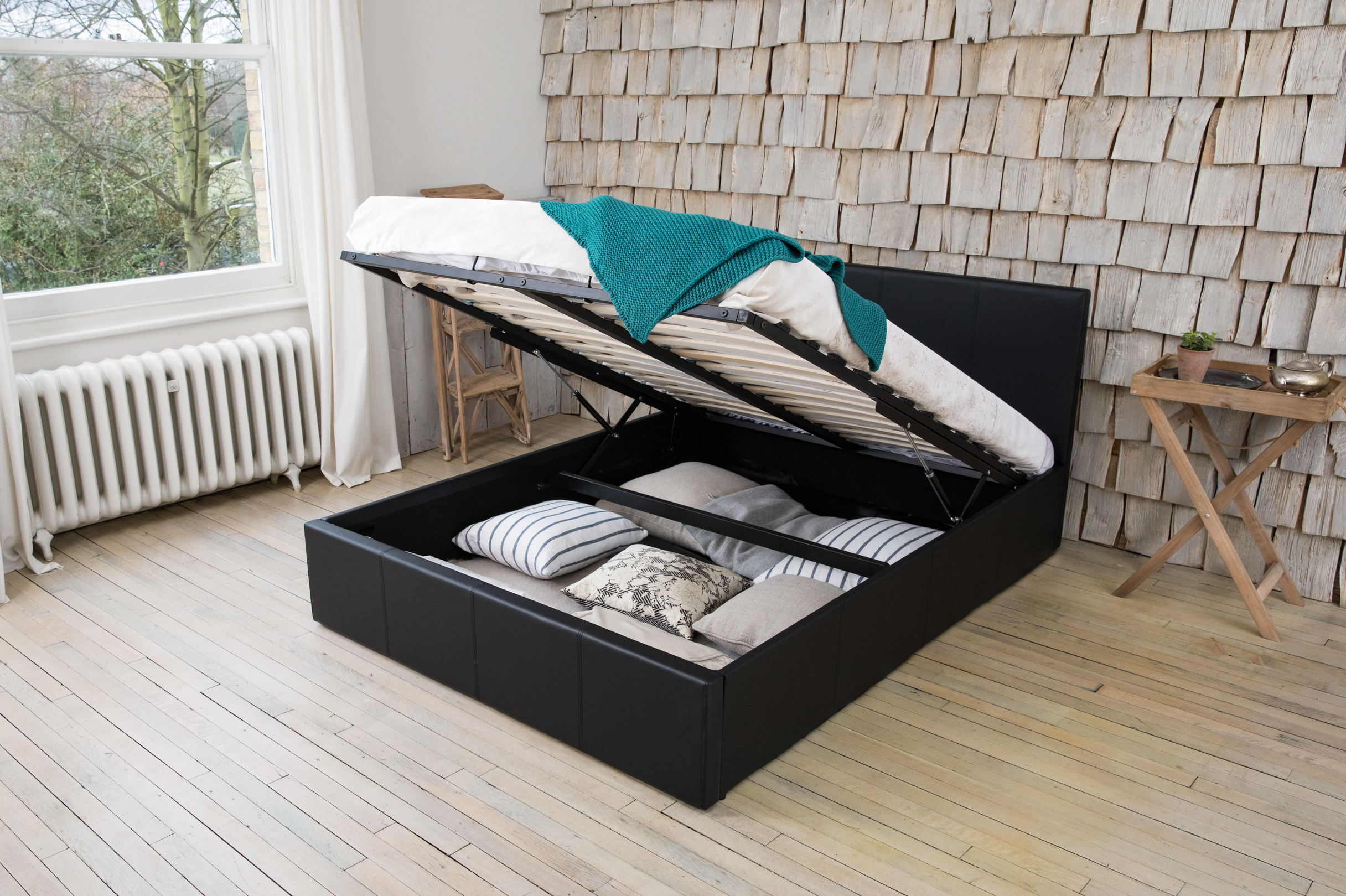 Oxford Solid Wood Bed Frame Modern Optional Storage Various Sizes and Colours