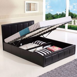 Hiley Ottoman Gas Lift Storage Bed-0