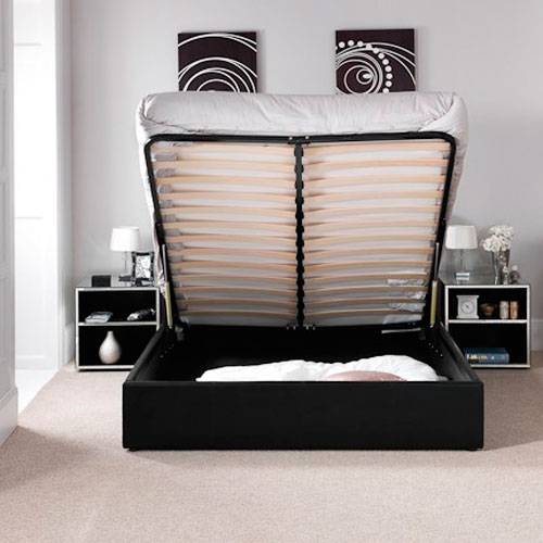Ottoman Storage Designer Leather Bed Luxury Leather Beds Beds Co