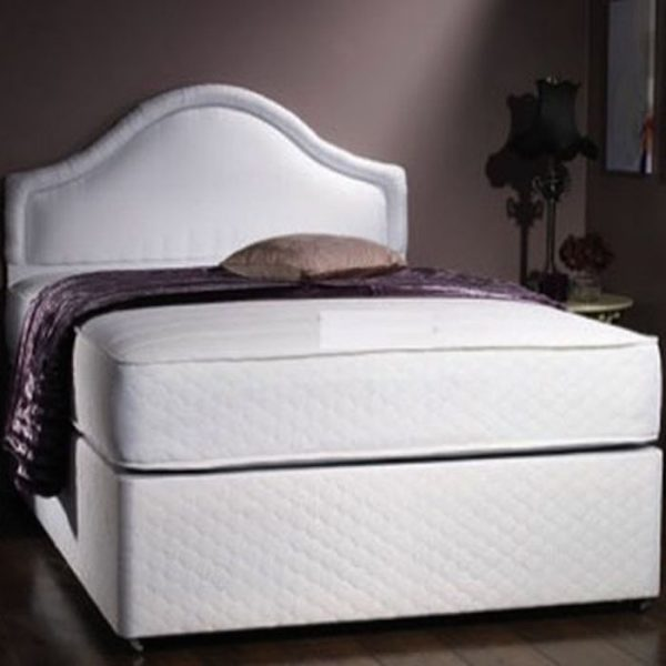 Westbury Quilted Divan Bed base with Quilted Memory Foam Coil Spring Mattress-0