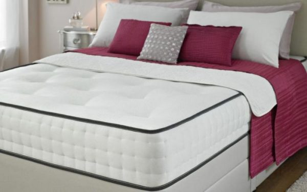 Bedford Divan Fabric Bed with Orthopaedic Spring Memory Foam Mattress-1096