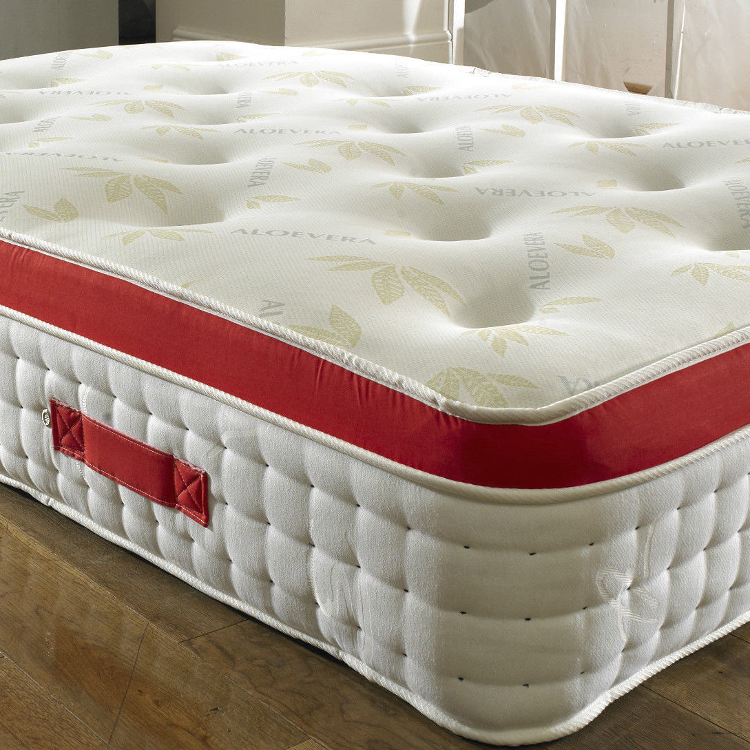 Zip Link Beds >> 1500 Pocket Spring Pillow Top Mattress - Luxury Fabric Beds - Beds.co.uk - The Bed Outlet