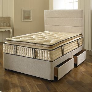 Dreyton Divan Bed with Superior Comfort 3000 Pocket Spring Pillow Top Mattress-0