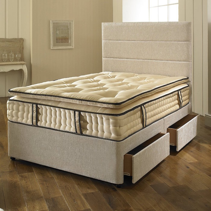 Dreyton Divan Bed With 3000 Pocket Pillow Top Spring
