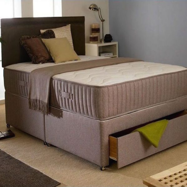 Marlo Divan Bed with Orthopaedic Spring Mattress-0