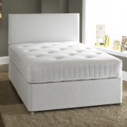 Eaton Divan Fabric Bed with Luxury Hand-Tufted Damask Mattress-0