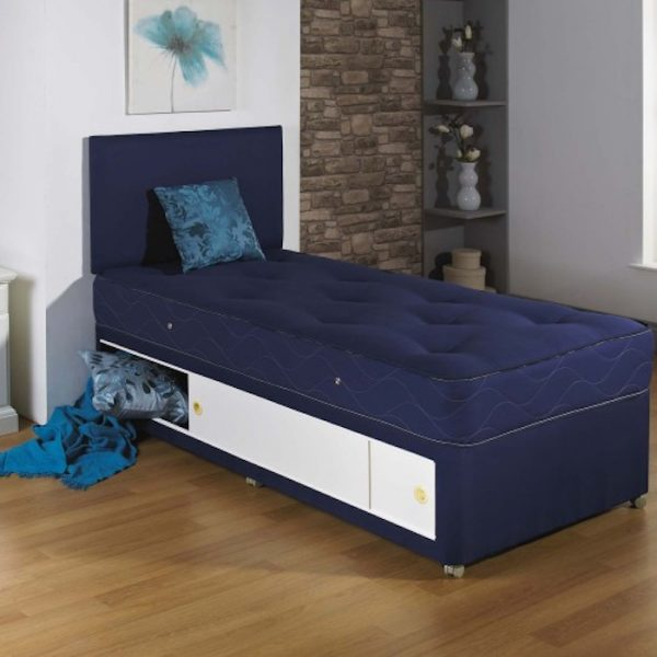 Thomas Single Kids Divan Bed with Hand Tufted Mattress-0 & Thomas Single Kids Divan Bed with Hand Tufted Mattress - Luxury ...