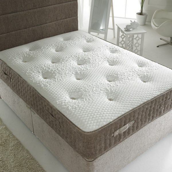Beds.co.uk 2000 Pocket Spring Mink Chenille Orthopaedic Mattress-589