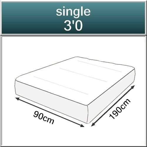 Beds.co.uk Pocket 2000 Spring Pillow Top Orthopaedic Mattress-519