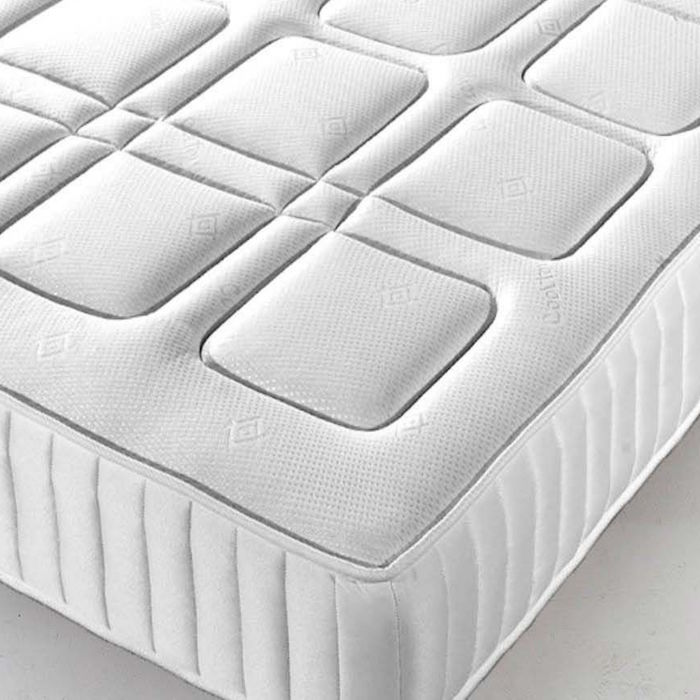 Open Coil Spring Memory Foam Mattress Luxury Fabric Beds