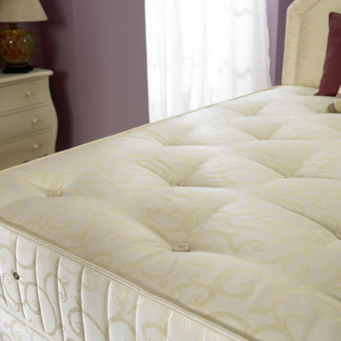 Firm Orthopaedic Open Coil Spring Mattress Luxury Fabric Beds Beds Co Uk The Bed Outlet