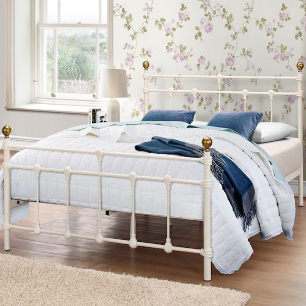 Alexandre Metal Bed Frame - Luxury Leather Beds - Beds.co.uk - The ...