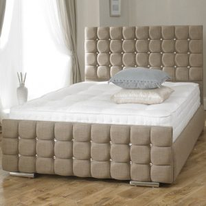 Erin Fabric Upholstered Bed Frame-0