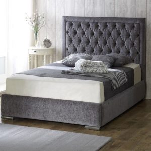 Bethel Chenille Fabric Upholstered Bed Frame-0