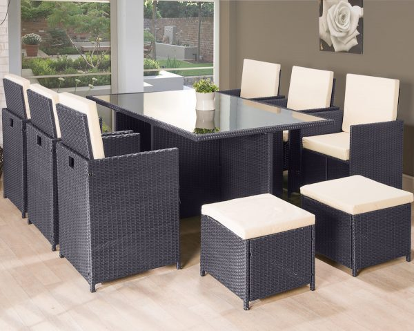 11pc Cube Rattan Garden Furniture Luxury Leather Beds Beds Co Uk The Bed Outlet