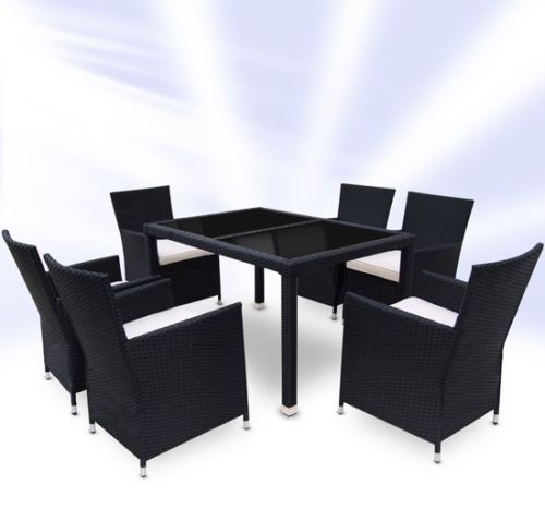 Rattan Dining Table And Chairs: Rattan Dining Table And 6 Chairs Set