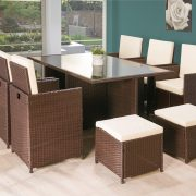 11PC Cube Rattan Garden Furniture – Black or Brown-1253