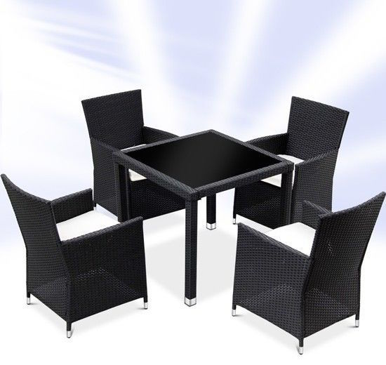 Rattan Dining Table And Chairs: Rattan Dining Table And 4 Chairs Set