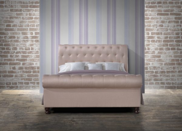 Fabrice Fabric Upholstered Sleigh Bed-1139