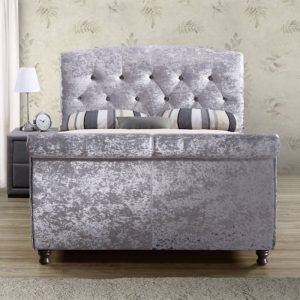 Ramond Fabric Upholstered Sleigh Bed-0