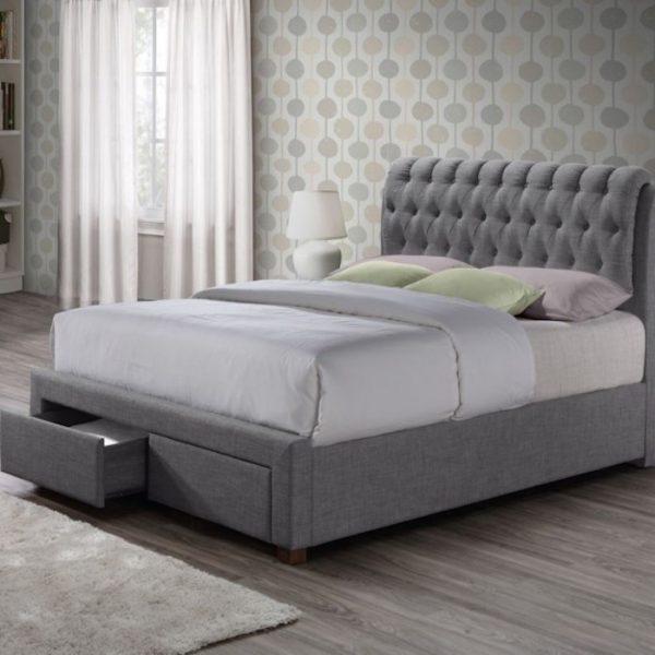 Sorel Fabric Upholstered 2 Drawer Bed-0