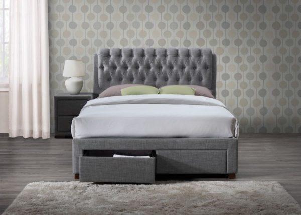 Sorel Fabric Upholstered 2 Drawer Bed-1158