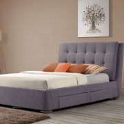 Camile Fabric Upholstered 4 Drawer Bed-0