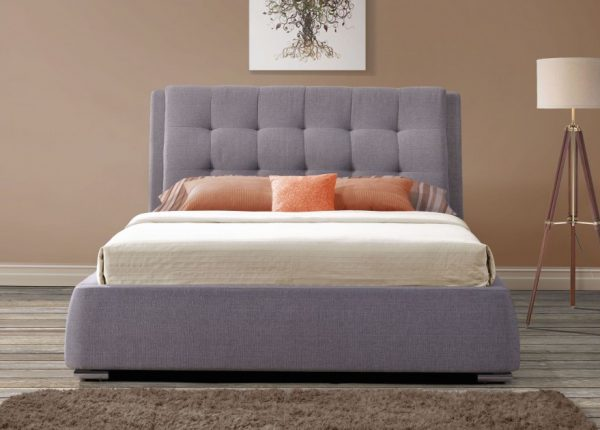 Camile Fabric Upholstered 4 Drawer Bed-1188