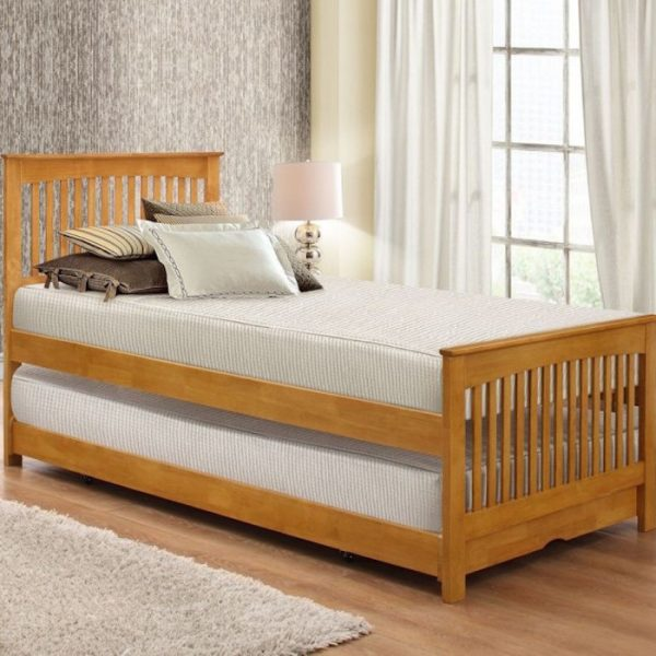Leather Bed Oak Beds Und: Available In Oak Or White