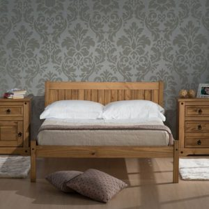 Hutton Wooden Bed Wax Pine Or White Wash-0