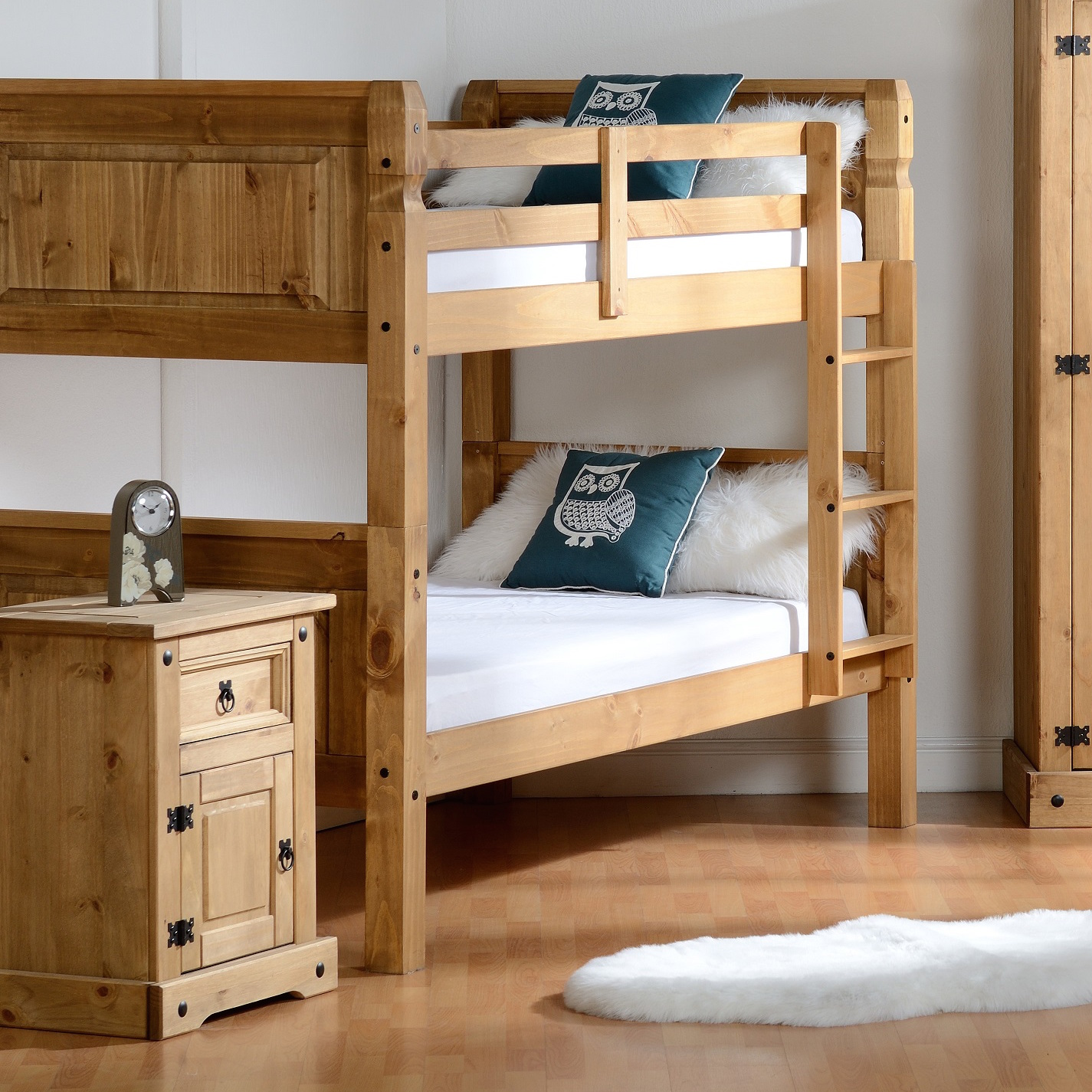 Conrad Wood Bunk Bed Frame Luxury Leather Beds Beds Co