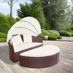 Rattan Daybed Black-0