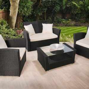 4PC Premium Rattan Sofa, Chair and Table Dining Set -0