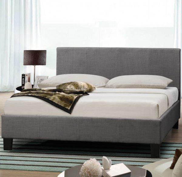 Emma Modern Italian Grey Fabric Bed Frame
