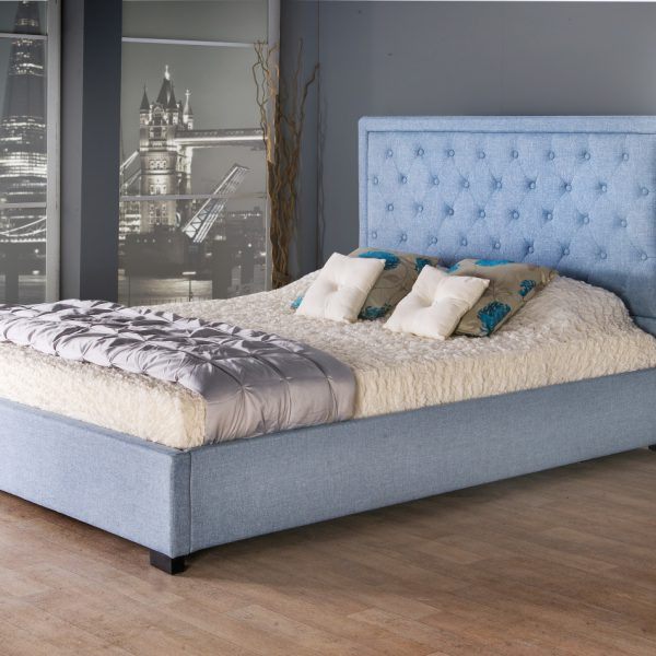 Bethel Fabric Upholstered Bed Frame Luxury Fabric Beds