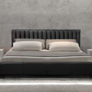 Emily Modern Italian Leather Bed-0