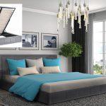 Gia Ottoman Fabric Storage Bed-0