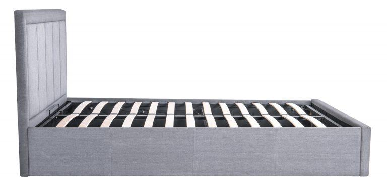 Gia Ottoman Fabric Storage Bed-1465