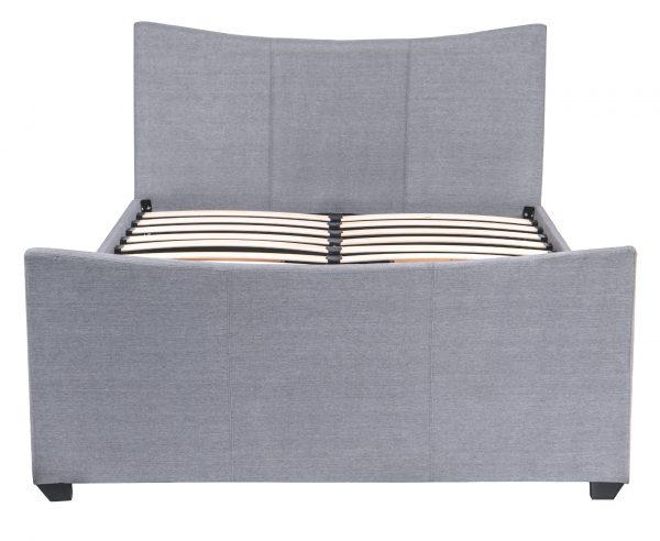 Mia Fabric Storage Sleigh Bed-1475