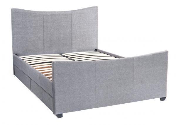 Mia Fabric Storage Sleigh Bed-1481