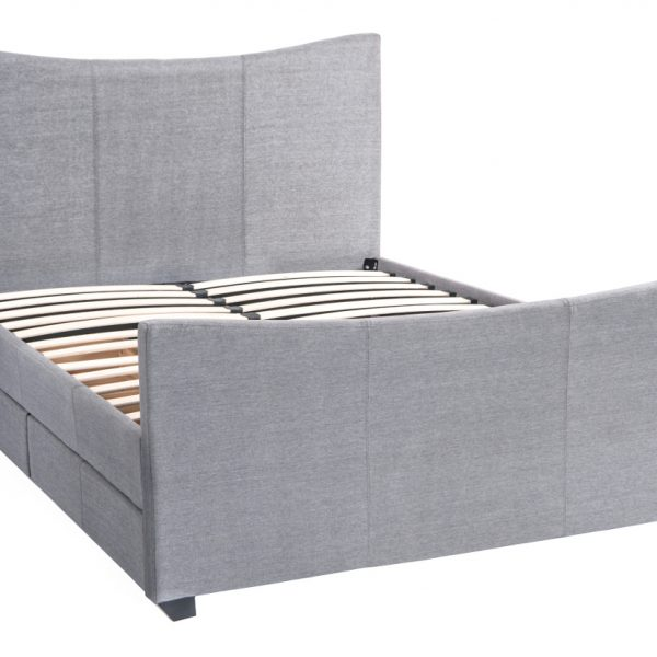 Mia Fabric Storage Sleigh Bed-1481