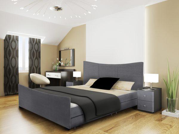 Mia Fabric Storage Sleigh Bed-0