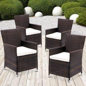Rattan Garden Chairs Brown-0