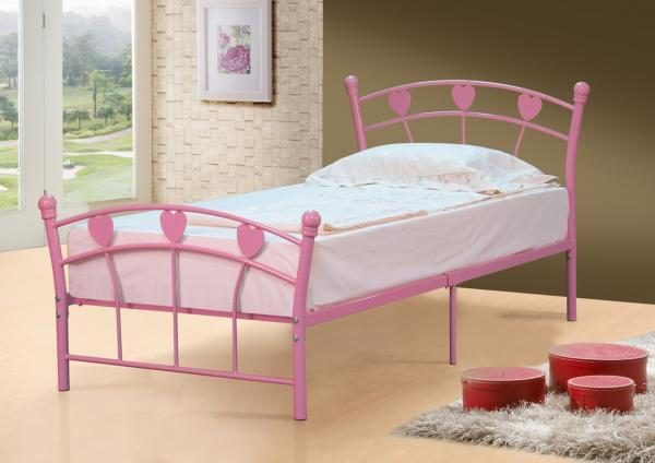 Mia Princess Pink Metal Bed-0